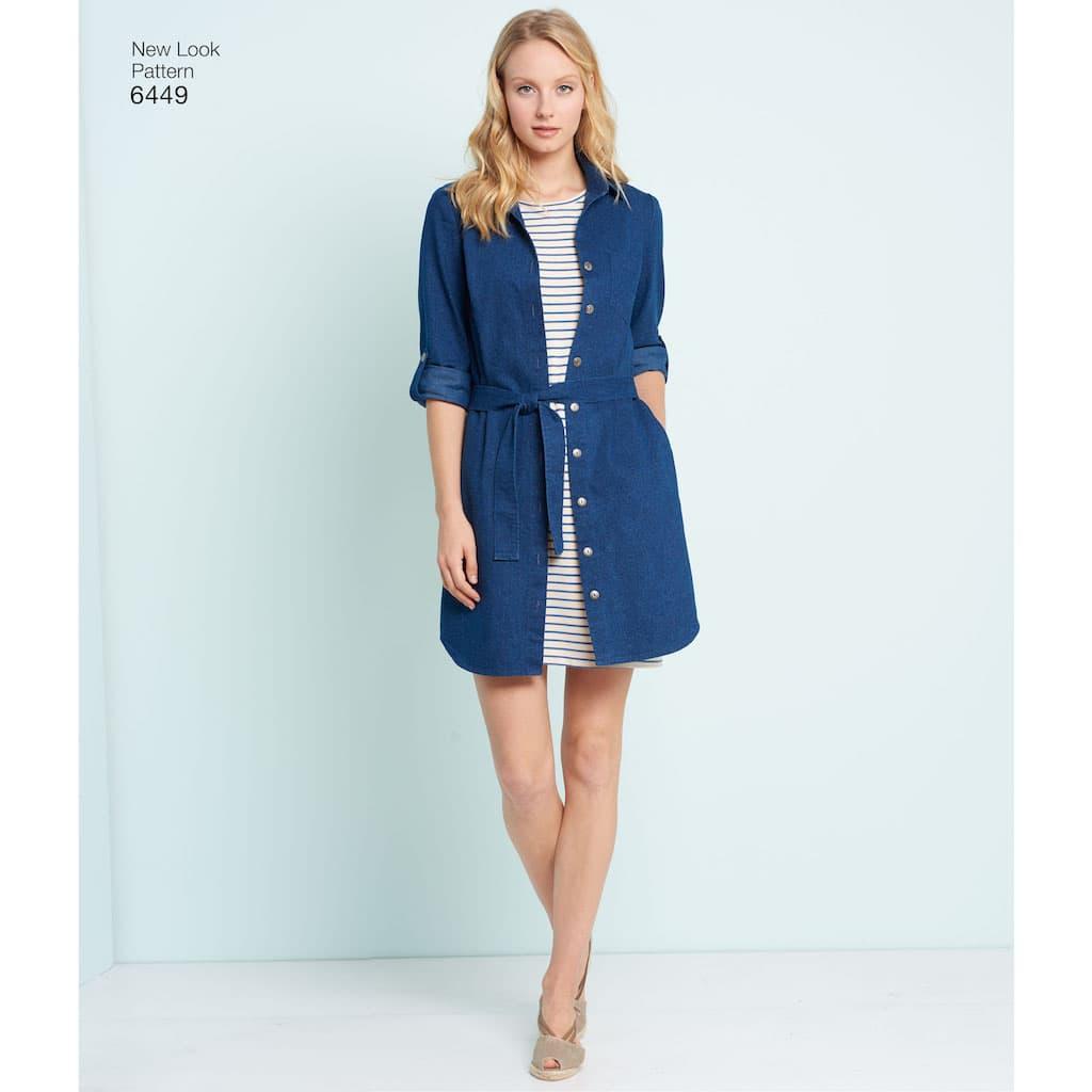 db86cb6c42aa9 New Look – Patron Femme Tunique et Robe en Tricot n°6449 du 36 au 48 ...