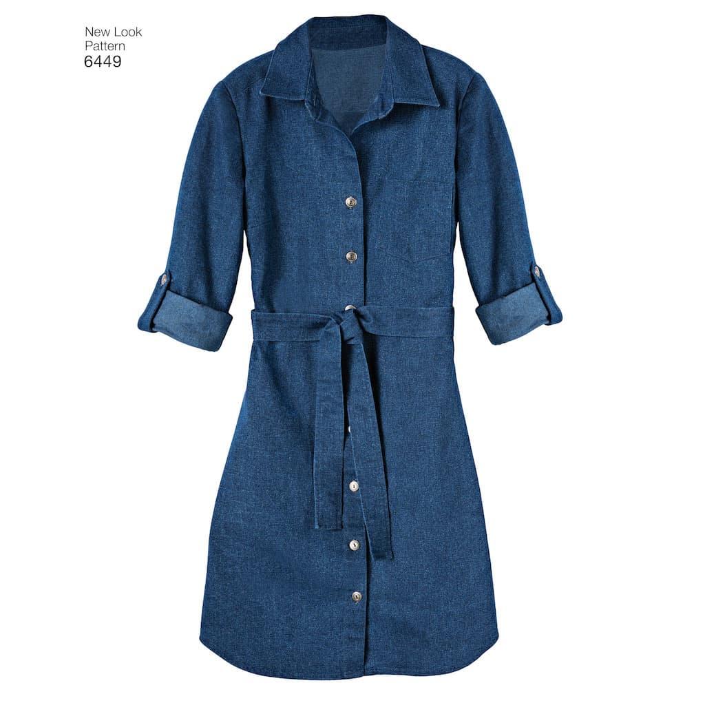 6ff856414166a New Look – Patron Femme Tunique et Robe en Tricot n°6449 du 36 au