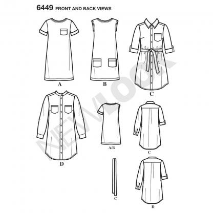 New Look – Patron Femme Tunique et Robe en Tricot n°6449 du 36 au 48