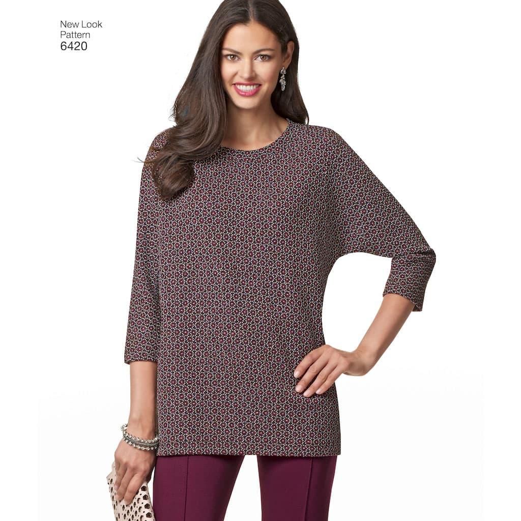 21cc021d52f14 New Look – Patron Femme Tunique ou Haut, Jupe et Pantalon n°6420 du ...