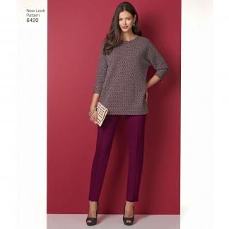 New Look – Patron Femme Tunique ou Haut, Jupe et Pantalon n°6420 du 34 au 52