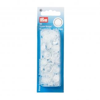 """Prym - Boite 30 Boutons Pression """"Color Snaps"""" Coloris Brillant Transparent (12,4 mm)"""