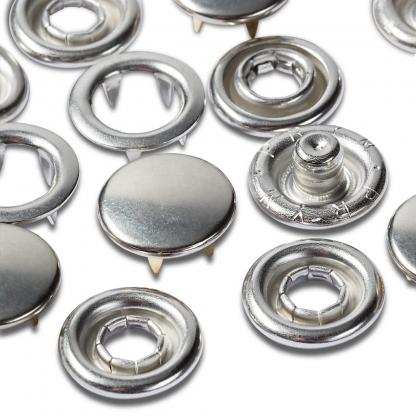 Prym - Boite Recharge 20 Boutons Pression Jersey Capuchon Lisse Coloris Argent (10 mm)