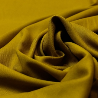 Sélection Coup de coudre - Tissu Twill de Viscose Uni Couleur Moutarde