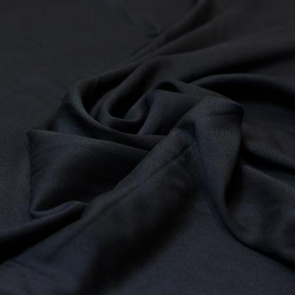 Sélection Coup de coudre - Tissu Twill de Viscose Uni Couleur Noir