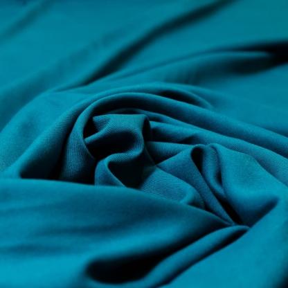 Sélection Coup de coudre - Tissu Twill de Viscose Uni Couleur Turquoise