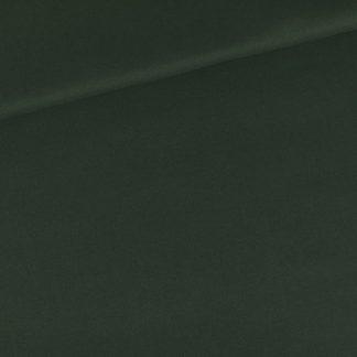 See You at Six - Tissu Sergé Gabardine de Coton Uni Couleur Vert Duffel