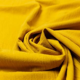 Sélection Coup de coudre - Tissu Popeline de Coton Lavé Uni Couleur Ocre