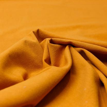 Sélection Coup de coudre - Tissu Popeline de Coton Lavé Uni Couleur Orange Brûlé