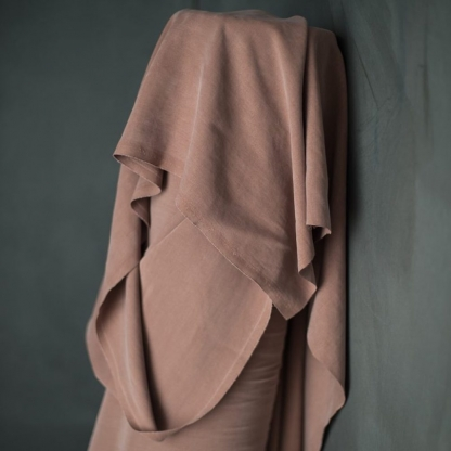 Merchant & Mills - Tissu Twill de Lyocell Uni Couleur Vieux Rose