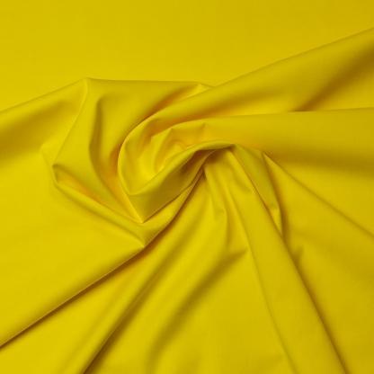 Sélection Coup de coudre - Tissu Popeline de Coton Uni Couleur Jaune Poussin