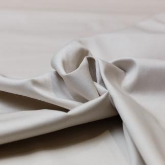 Sélection Coup de coudre - Tissu Satin de Coton Uni Couleur Blanc Cassé