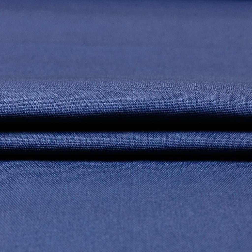 sélection coup de coudre - tissu toile de coton uni couleur bleu