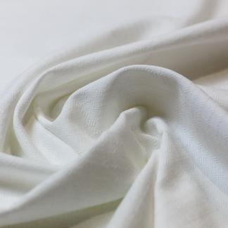 """Sélection Coup de coudre - Tissu Popeline de Coton Texturé """"Dobby"""" Couleur Blanc"""