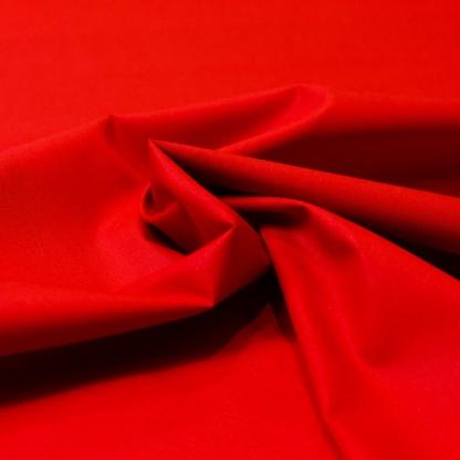 Sélection Coup de coudre - Tissu Popeline de Coton Uni Couleur Rouge Coquelicot