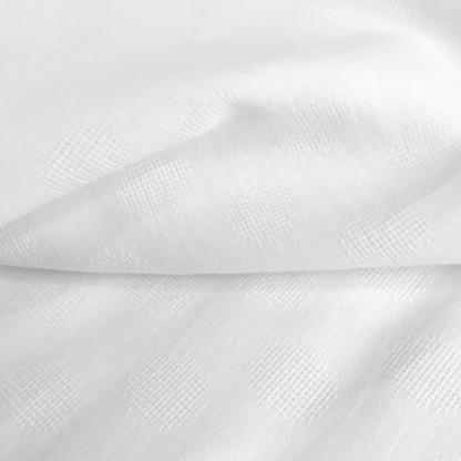 """Sélection Coup de coudre - Tissu Popeline de Coton Texturé """"Dobby"""" à Motif Pois Couleur Blanc"""