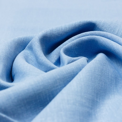 Sélection Coup de coudre - Toile de Pur Lin Uni Couleur Bleu Ciel