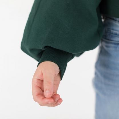 See You at Six - Tissu Jersey Bord-Cotes Uni Couleur Vert Sapin
