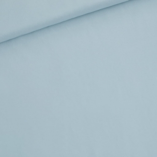 See You at Six - Tissu Jersey Sweat Léger de Coton Uni Couleur Bleu Clair