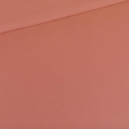 See You at Six - Tissu Jersey Sweat Léger de Coton Uni Couleur Rouge Désert