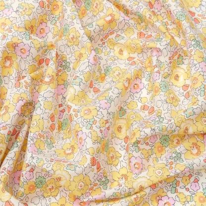 Liberty London - Tissu Betsy Tana Lawn Coton Jaune