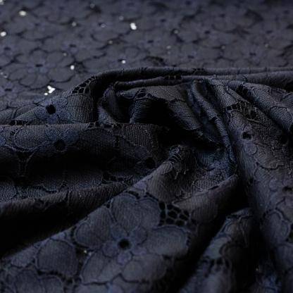 Sélection Coup de coudre - Tissu Dentelle de Polyamide Uni Couleur Noir