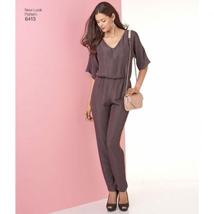 New Look – Patron Femme Robe ou Tunique et Combinaison n°6413 du 36 au 48