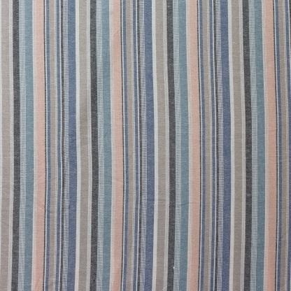 Sélection Coup de coudre - Tissu Toile de Lin et Viscose à Rayures Multicolores