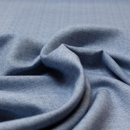Sélection Coup de coudre - Tissu Sergé Gabardine de Coton Uni Couleur Bleu Gris