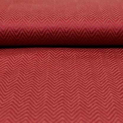 Sélection Coup de coudre - Tissu Twill de Viscose Damassé à Chevrons Couleur Rouge Framboise