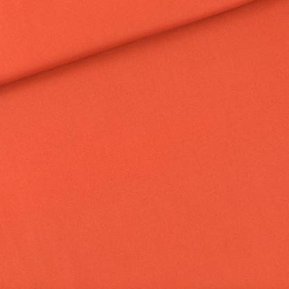 See You at Six - Tissu Sergé Gabardine de Coton Uni Couleur Rouge Ginger Spice