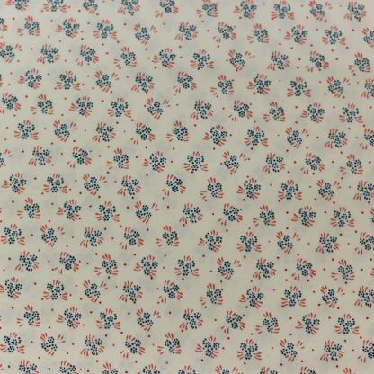 C. Pauli - Tissu Popeline Fine de Coton Bio Imprimé Fleurs Osaka Spring sur le Fond Blanc Crème