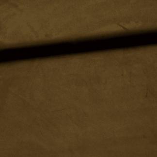Fibre Mood - Tissu Jersey Suédine Uni Couleur Kaki