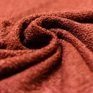 Fibre Mood - Tissu Suédine Fourré Double Face Peau de Mouton Uni Couleur Marron