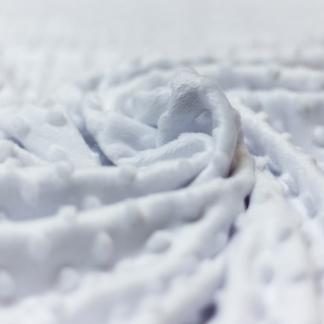 Sélection Coup de coudre - Tissu Minky Polaire à Pois en Relief Uni Couleur Blanc