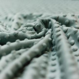 Sélection Coup de coudre - Tissu Minky Polaire à Pois en Relief Uni Couleur Vert Clair