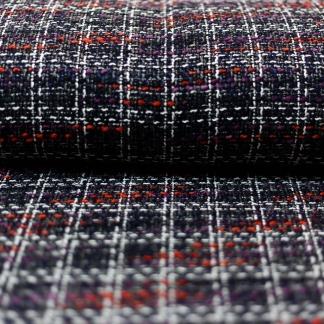 Sélection Coup de coudre - Tissu de Tweed Moderne Couleur Noir