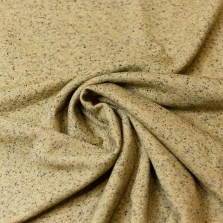 Sélection Coup de coudre - Tissu Jersey de Coton Mélangé avec Lurex sur le Fond Jaune Moucheté