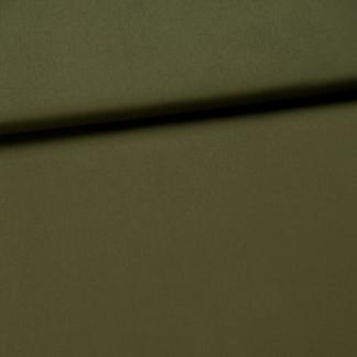 Fibre Mood - Tissu Toile de Coton Mélangé Uni Couleur Vert Foncé