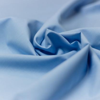 Sélection Coup de coudre - Tissu Chambray de Coton Uni Couleur Bleu Clair
