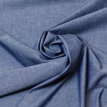 Sélection Coup de coudre - Tissu Chambray de Coton Uni Couleur Bleu Marine