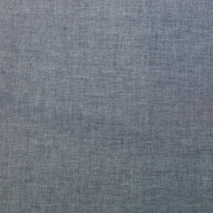Sélection Coup de coudre - Tissu Chambray de Coton Uni Couleur Gris Anthracite