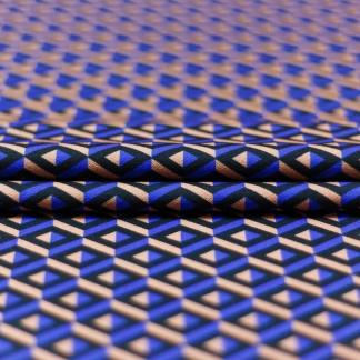 Sélection Coup de coudre - Tissu Jersey Interlock Imprimé Graphique Rose et Bleu
