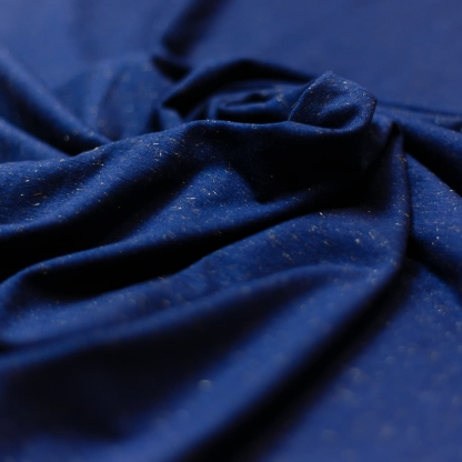 Sélection Coup de coudre - Tissu Jersey de Coton Lurex sur le Fond Bleu Marine