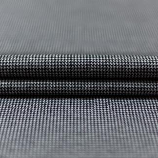 Sélection Coup de coudre - Tissu Jersey de Viscose et Polyester à Pied de Poule Couleur Gris et Noir