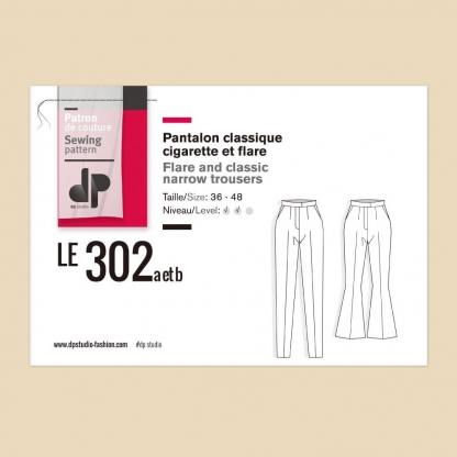 DP Studio – Patron Femme Le 302 Pantalon Cigarette et Flare du 36 au 48