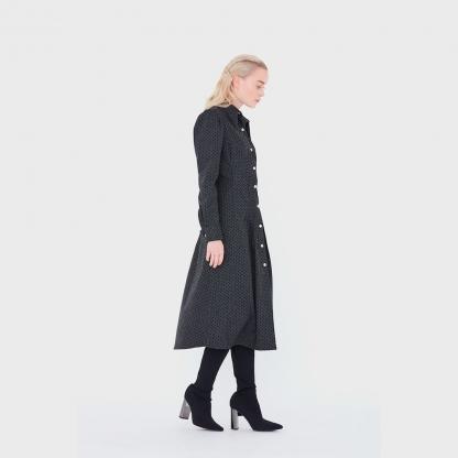 DP Studio – Patron Femme Le 607 Chemise Robe à Plis Devant avec Empiècement du 36 au 48
