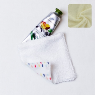 Sélection Coup de coudre – Kit Couture 10 Lingettes Démaquillantes Lavables en Tissu Bio Couleur Ecru