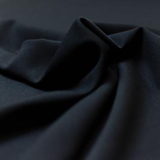 Sélection Coup de coudre - Tissu Crêpe de Laine Uni Couleur Noir