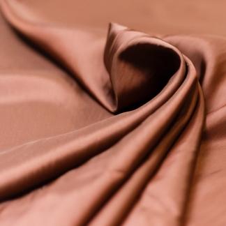 Bemberg - Doublure Taffetas de Cupro Fiber et Acetate Uni Couleur Teck